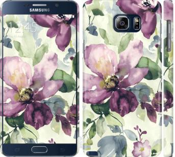 Чехол на Samsung Galaxy Note 5 N920C Цветы акварелью
