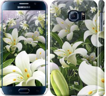 Чехол на Samsung Galaxy S6 G920 Белые лилии