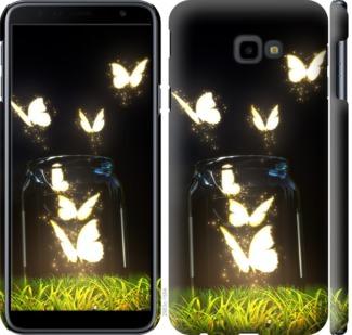 Чехол на Samsung Galaxy J4 Plus 2018 Светящиеся бабочки