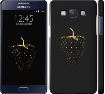 Чехол на Samsung Galaxy A5 A500H Черная клубника