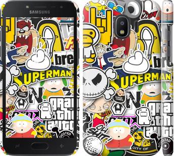 Чехол на Samsung Galaxy J2 2018 Popular logos