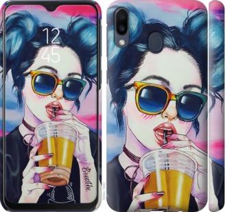 Чехол на Samsung Galaxy M20 Арт-девушка в очках