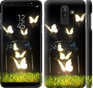 Чехол на Samsung Galaxy J8 2018 Светящиеся бабочки