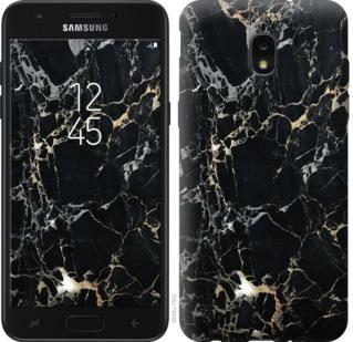 Чехол на Samsung Galaxy J7 2018 Черный мрамор