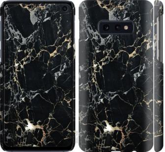 Чехол на Samsung Galaxy S10e Черный мрамор