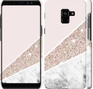 Чехол на Samsung Galaxy A8 Plus 2018 A730F Пастельный мрамор