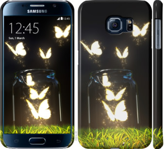 Чехол на Samsung Galaxy S6 G920 Светящиеся бабочки