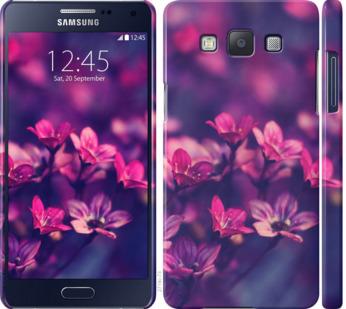 Чехол на Samsung Galaxy A5 A500H Пурпурные цветы