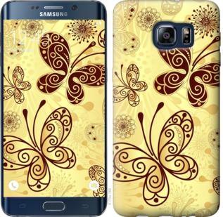 Чехол на Samsung Galaxy S6 Edge Plus G928 Красивые бабочки