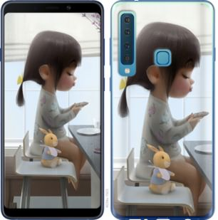 Чехол на Samsung Galaxy A9 (2018) Милая девочка с зайчиком