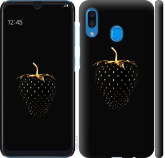 Чехол на Samsung Galaxy A20 2019 A205F Черная клубника