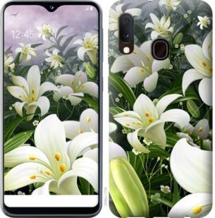 Чехол на Samsung Galaxy A20e A202F Белые лилии