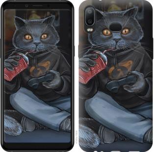 Чехол на Samsung Galaxy A6s gamer cat