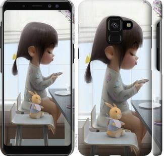Чехол на Samsung Galaxy A8 2018 A530F Милая девочка с зайчиком
