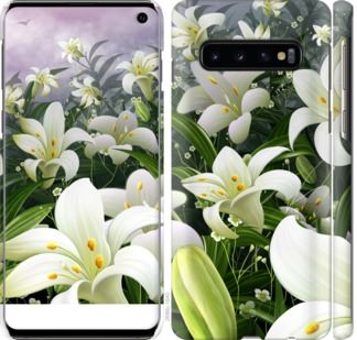 Чехол на Samsung Galaxy S10 Белые лилии