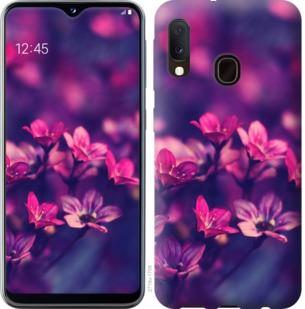 Чехол на Samsung Galaxy A20e A202F Пурпурные цветы