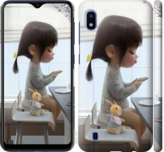 Чехол на Samsung Galaxy A10 2019 A105F Милая девочка с зайчиком