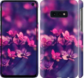 Чехол на Samsung Galaxy S10e Пурпурные цветы