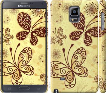 Чехол на Samsung Galaxy Note 4 N910H Красивые бабочки