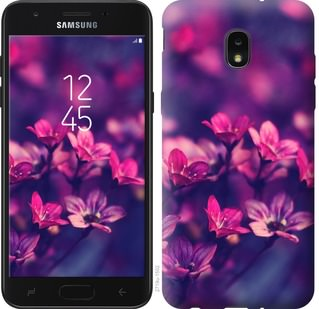 Чехол на Samsung Galaxy J7 2018 Пурпурные цветы