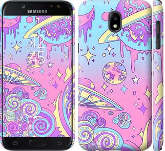 Чехол на Samsung Galaxy J5 J530 (2017) Розовая галактика