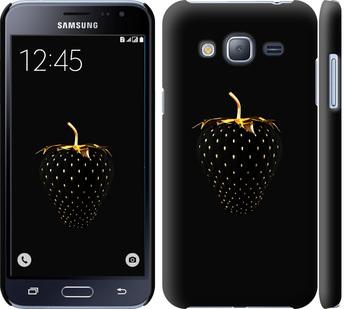Чехол на Samsung Galaxy J3 Duos (2016) J320H Черная клубника
