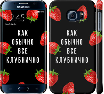 Чехол на Samsung Galaxy S6 G920 Все клубнично