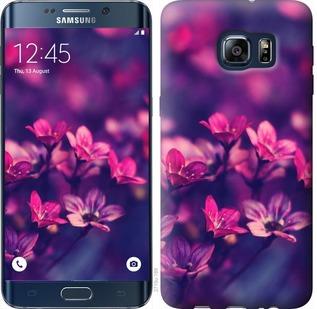 Чехол на Samsung Galaxy S6 Edge Plus G928 Пурпурные цветы
