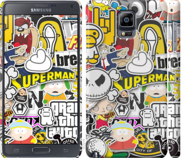 Чехол на Samsung Galaxy Note 4 N910H Popular logos