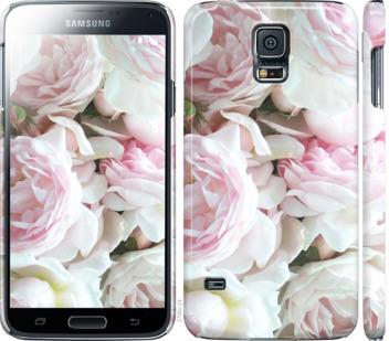 Чехол на Samsung Galaxy S5 g900h Пионы v2