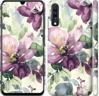 Чехол на Samsung Galaxy A70 2019 A705F Цветы акварелью
