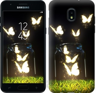 Чехол на Samsung Galaxy J3 2018 Светящиеся бабочки