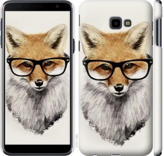 Чехол на Samsung Galaxy J4 Plus 2018 Лис в очках