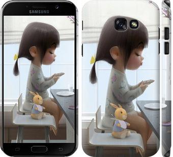 Чехол на Samsung Galaxy A7 (2017) Милая девочка с зайчиком