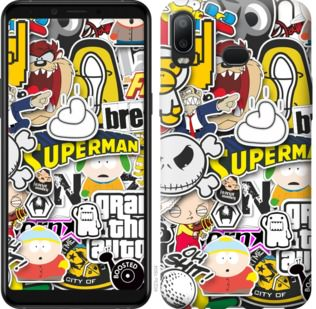 Чехол на Samsung Galaxy A6s Popular logos