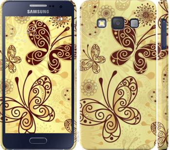 Чехол на Samsung Galaxy A3 A300H Красивые бабочки