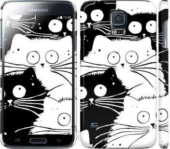 Чехол на Samsung Galaxy S5 g900h Коты v2