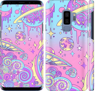 Чехол на Samsung Galaxy S9 Plus Розовая галактика