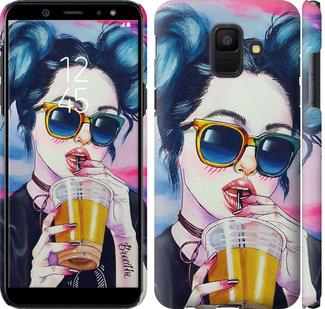 Чехол на Samsung Galaxy A6 2018 Арт-девушка в очках