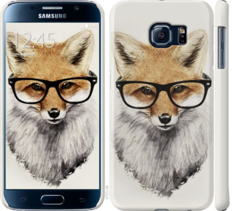 Чехол на Samsung Galaxy S6 G920 Лис в очках