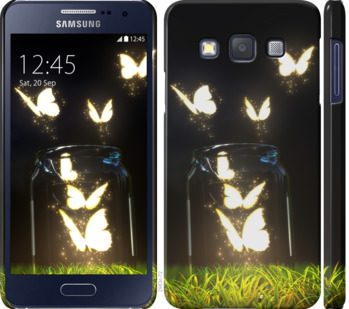 Чехол на Samsung Galaxy A3 A300H Светящиеся бабочки