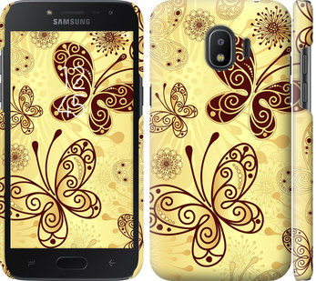 Чехол на Samsung Galaxy J2 2018 Красивые бабочки