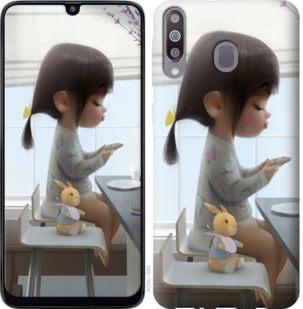 Чехол на Samsung Galaxy M30 Милая девочка с зайчиком