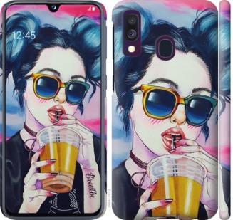 Чехол на Samsung Galaxy A40 2019 A405F Арт-девушка в очках