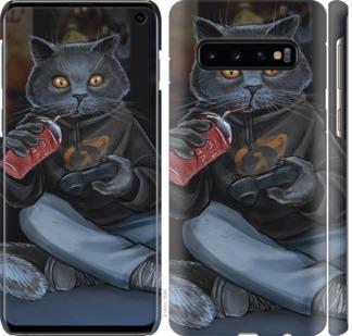 Чехол на Samsung Galaxy S10 gamer cat