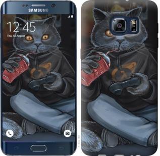 Чехол на Samsung Galaxy S6 Edge Plus G928 gamer cat