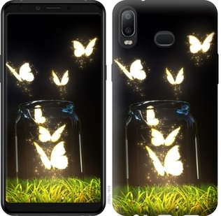 Чехол на Samsung Galaxy A6s Светящиеся бабочки