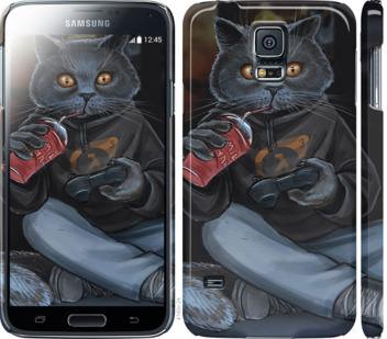 Чехол на Samsung Galaxy S5 g900h gamer cat