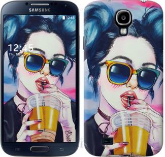 Чехол на Samsung Galaxy S4 i9500 Арт-девушка в очках