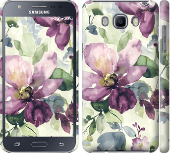 Чехол на Samsung Galaxy J7 (2016) J710F Цветы акварелью